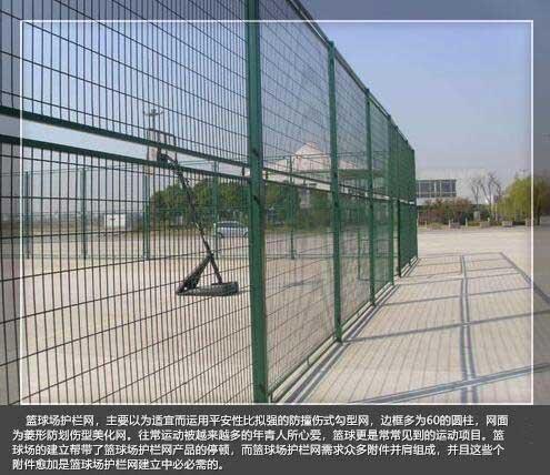 蓝球场围栏